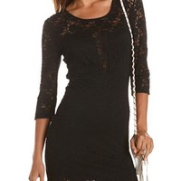 All Lace Body-Con Dress: Charlotte Russe