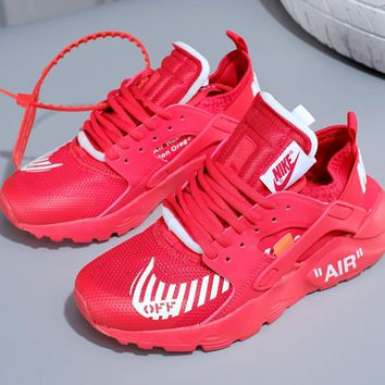 OFF_White  Nike Air Huarache men and women love motion Gym shoes