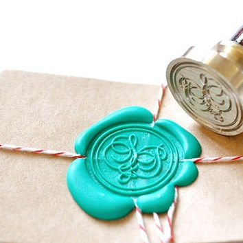 Custom Wax Seal Stamp Initials Script X 1
