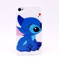 Pinlong Sweet Stitch Cute Hard Plastic Back Case Cover For Apple iPhone 4 4S
