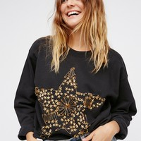 Free People Star Studded Pullover