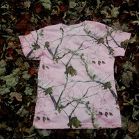 Lady Belle's Women's Short Sleeve Tee W/O Pocket - Pink Realtree Camouflage