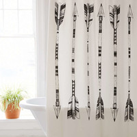 4040 Locust Black + White Arrows Shower Curtain - Urban Outfitters