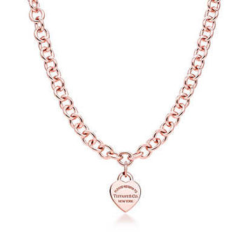 Tiffany & Co. - Return to Tiffany™ heart tag necklace in RUBEDO® metal.