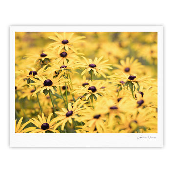 "Debbra Obertanec ""Pantone Yellow"" Flower Daisy Fine Art Gallery Print"