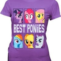 My Little Pony Best Ponies Character Frames Juniors Grape Purple T-shirt - My Little Pony - | TV Store Online