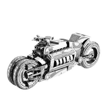 2018 new Nanyuan 3D Metal Puzzle Concept Motorcycl Model DIY Laser Cut Assemble Jigsaw Toys Desktop decoration GIFT for adult
