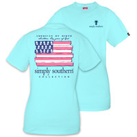Simply Southern Preppy USA American By Birth T-Shirt