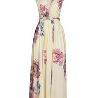Cupshe Tripe Out Floral Plunging Maxi Dress