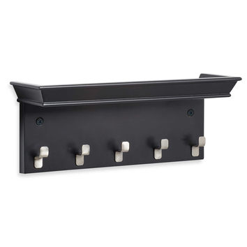 Real Simple® Wall-Mounted Mail and Key Rack in Black