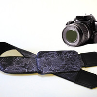 DSLR Camera Strap with pocket. World Map Camera Strap. Camera accessories. Photographer gift.