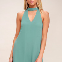 Groove Thing Sage Green Swing Dress