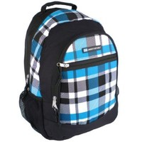 "18"" Blue Plaid Children Book Bag Backpack Kids School Shoulder Bag"