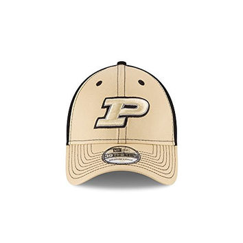 Purdue Boilermakers New Era Team Front Adult Gold/Black Hat (Small/Medium)