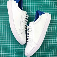 Givenchy Low Top Lace Up White Blue Sneakers - Best Online Sale