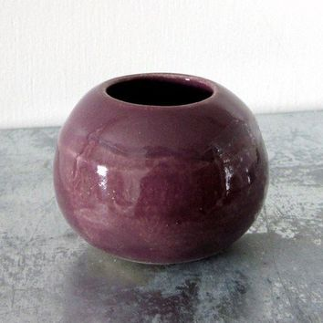 Small Pottery Vase with Flower Frog by JDWolfePottery on Etsy