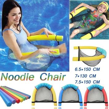Pool Noodle Floating Chair Swimming Pool Seats Multi Colors Floating Mattress Water Chair Beach Swimming Bed