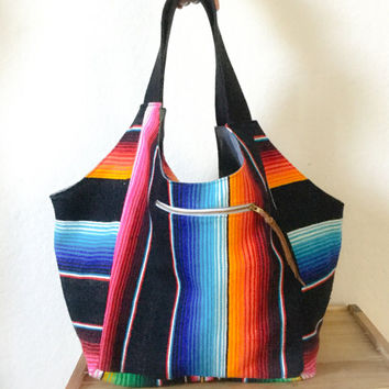 Luna Hobo Bag / Mexican Blanket/ Festival Bag/ Diaper Bag