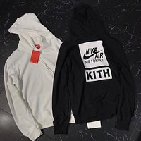 KITH x NIKE AIR FORCE Woman Men Fashion Hoodie Top Sweater
