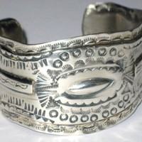 Oscar Betz Vintage Sterling Silver Cuff | BrokenWingDesigns - Jewelry on ArtFire
