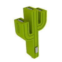 Triple Port Cactus Style USB Car Charger
