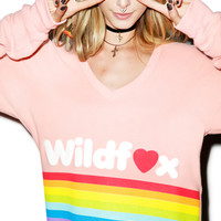 Wildfox Couture Dreams Come True Baggy Beach Jumper Peony