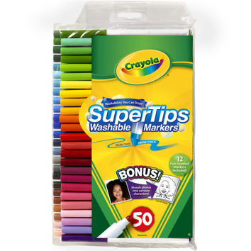 Crayola® Super Tips Washable Markers, 50 Count