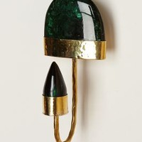 Marbled Brass Wall Hook by Anthropologie Green One Size Hooks