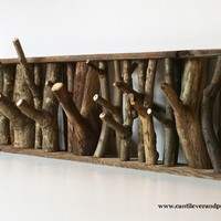 wolf den coat rack by cantileverandpress on Etsy