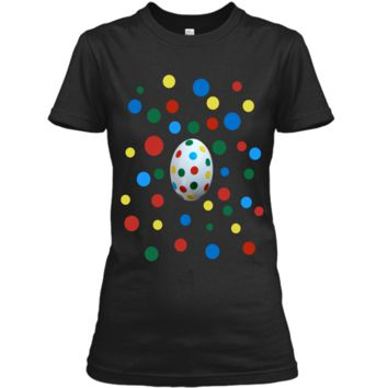 Easter Egg Polka Dots Now You See It Now You Dont Tee Ladies Custom