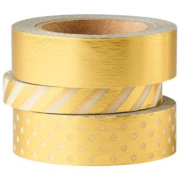 Shiny Metallic Washi Tape Set