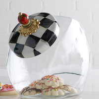 Courtly Check Cookie Jar - MacKenzie-Childs