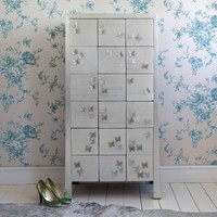 Beautiful Butterfly Silver Chest: French Bedroom Company
