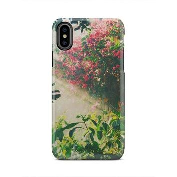 Beautiful Tropical Forest Floral iPhone X Case