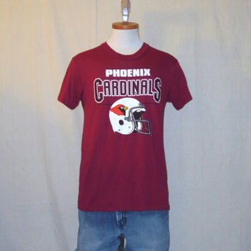 Vintage 80s PHOENIX CARDINALS GRAPHIC Arizona Football Soft Medium Rare 50/50 T-Shirt
