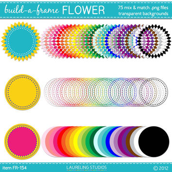 mix and match digital clip art frame set scrapbook supplies clipart instant download commercial useFR154