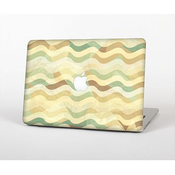 """The Green and Yellow Wave Pattern v3 Skin for the Apple MacBook Air 13"""""""