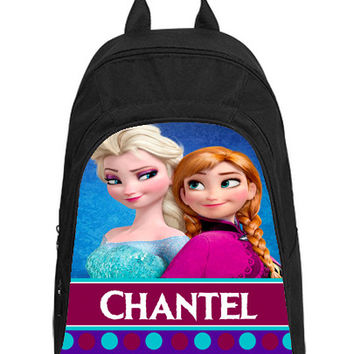 Personalized Backpack - Ice Queen Elsa and Frozen Princess Anna - Free Shipping