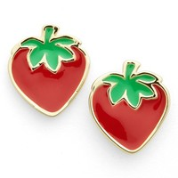 Women's Covet 'Pop Art' Stud Earrings - Red- Strawberry