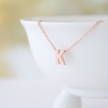 Capital Gold Letter Necklace - Personalized Letter