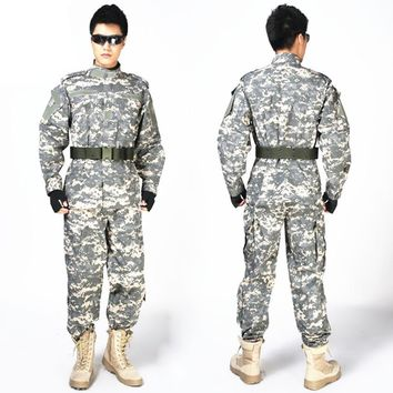 Military USMC Army Combat Traning Uniform Suits Sniper Camouflage Clothing Tactical Hunting Shooting Suit