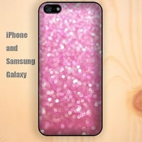 pink hot sand glitter iphone 6 6 plus iPhone 5 5S 5C case Samsung S3,S4,S5 case Ipod Silicone plastic Phone cover Waterproof