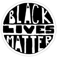 'Black Lives Matter - Filled' Sticker by sadiesavesit
