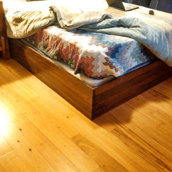 Reclaimed Barnwood Flooring Bed Frame - Queen