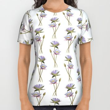 Lotus flowers All Over Print Shirt by Savousepate
