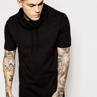 ASOS Longline T-Shirt With Funnel Neck And Relaxed Skater Fit