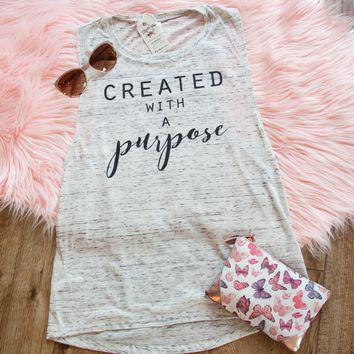 Created with a Purpose Ladies Muscle Tank