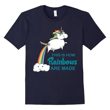 How Rainbows Are Made Unicorn Farts Cute Graphic T-Shirt