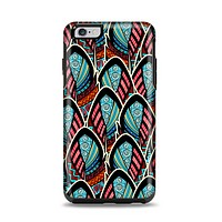 The Intense Colorful Peacock Feather Apple iPhone 6 Plus Otterbox Symmetry Case Skin Set