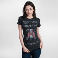 Adventures of Sherlock Holmes womens literary t-shirt | Outofprintclothing.com